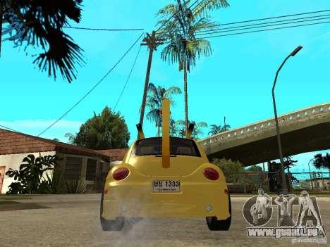 Volkswagen Beetle Pokemon pour GTA San Andreas sur la vue arrière gauche