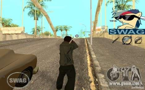 C-HUD Pony SWAG pour GTA San Andreas deuxième écran