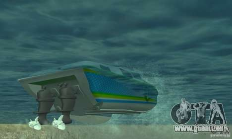 Speed Motorboat für GTA San Andreas Innenansicht
