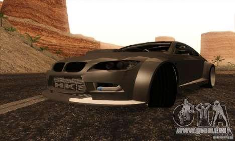 BMW M3 E92 Tuned v2 für GTA San Andreas zurück linke Ansicht