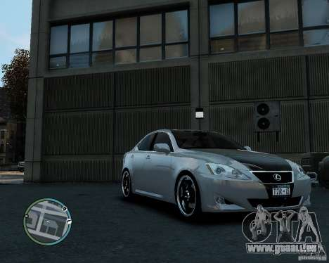 Lexus IS350 2006 v.1.0 pour GTA 4 Vue arrière de la gauche