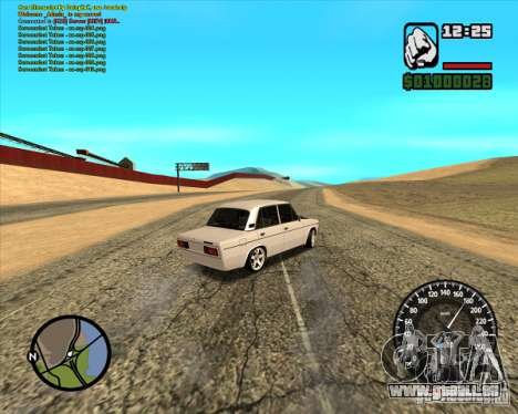 VAZ 2106 tuning pour GTA San Andreas sur la vue arrière gauche