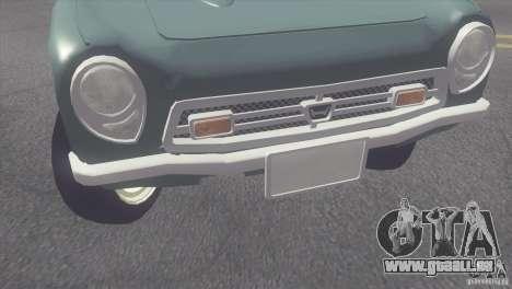 Honda S800 pour GTA San Andreas sur la vue arrière gauche