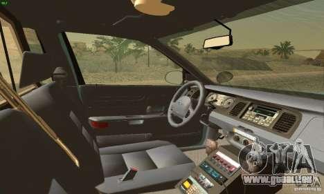 Ford Crown Victoria Maine Police für GTA San Andreas zurück linke Ansicht