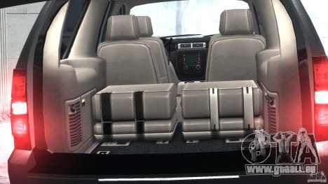 Chevrolet Tahoe 2007 pour GTA 4 est une vue de l'intérieur