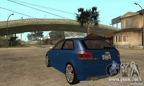 Audi S3 2007 - Stock für GTA San Andreas zurück linke Ansicht