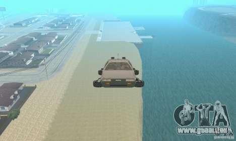 DeLorean DMC-12 (BTTF2) für GTA San Andreas rechten Ansicht