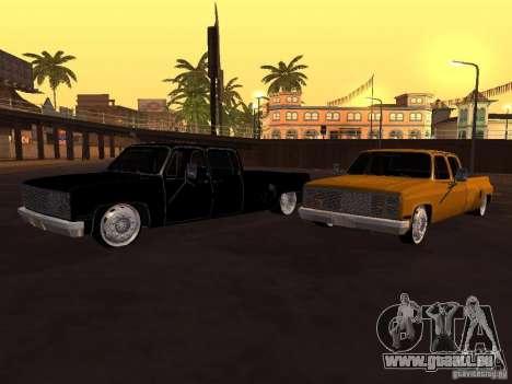 Chevrolet Silverado Lowrider für GTA San Andreas Rückansicht
