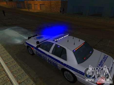 Ford Crown Victoria Police Interceptor 2008 pour GTA San Andreas vue de dessous