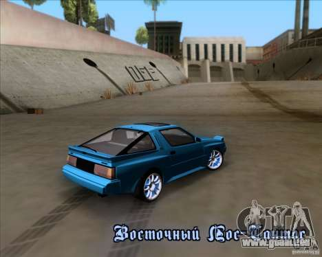 Mitsubishi Starion pour GTA San Andreas vue de dessus