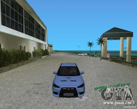 Mitsubishi Lancer Evo X pour une vue GTA Vice City de la gauche