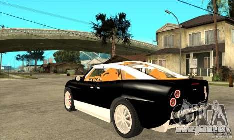 Spyker D8 Peking-to-Paris pour GTA San Andreas sur la vue arrière gauche