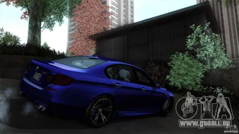 BMW M5 F10 2012 für GTA San Andreas Seitenansicht