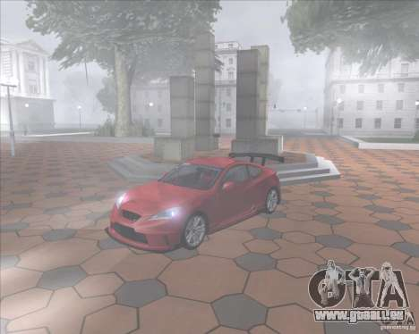 Hyundai Genesis Coupe pour GTA San Andreas vue de droite