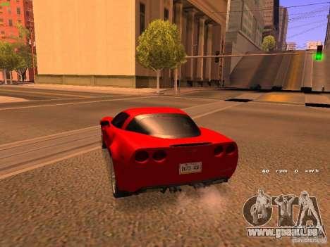 Chevrolet Corvette Z06 für GTA San Andreas zurück linke Ansicht