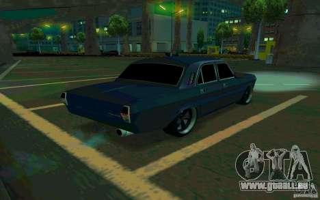GAZ Volga 24 v2 (version bêta) pour GTA San Andreas sur la vue arrière gauche