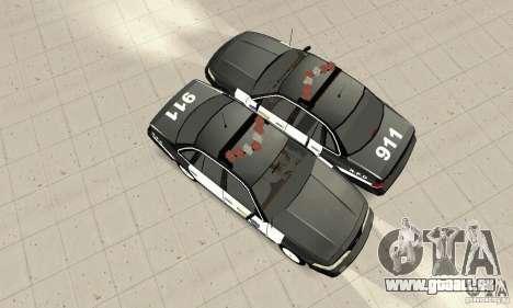 Ford Taurus 1992 Police pour GTA San Andreas vue arrière