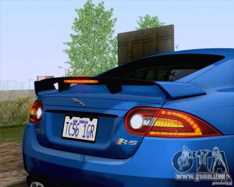Jaguar XKR-S 2012 pour GTA San Andreas vue intérieure