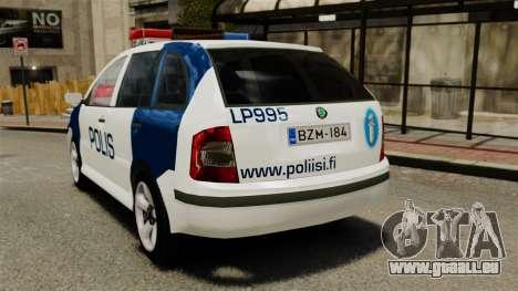 Skoda Fabia Combi Finnish Police ELS für GTA 4 hinten links Ansicht