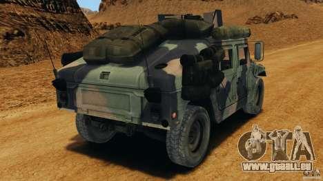 HMMWV M1114 v1.0 pour GTA 4 Vue arrière de la gauche