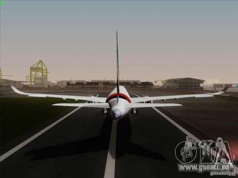 Airbus A350-900 Emirates pour GTA San Andreas vue intérieure