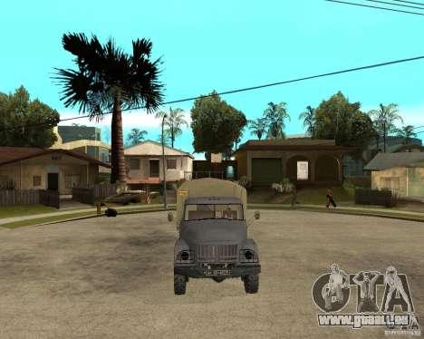 ZIL 131 pour GTA San Andreas vue arrière