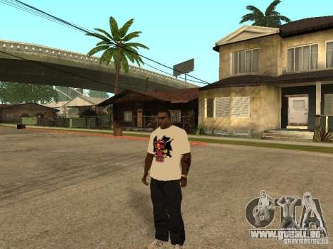 T Shirt Red Bull pour GTA San Andreas deuxième écran