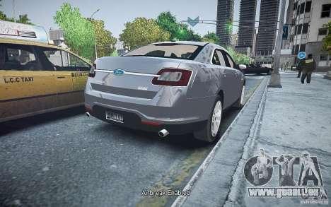 Ford Taurus SHO 2010 pour GTA 4 Vue arrière de la gauche