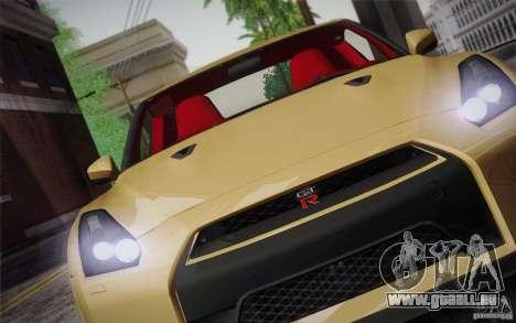 Nissan GTR Egoist pour GTA San Andreas vue de dessus