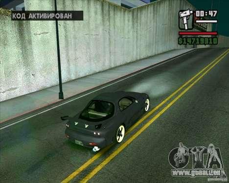 Mazda RX-7 WeaponWar pour GTA San Andreas laissé vue