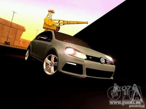 Volkswagen Golf R 2010 pour GTA San Andreas vue intérieure