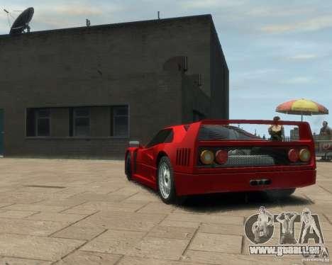 Ferrari F40 pour GTA 4 Vue arrière de la gauche