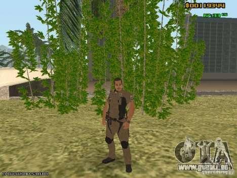 SAPD skins pour GTA San Andreas troisième écran