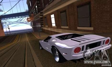 Ford GT 2005 für GTA San Andreas Unteransicht
