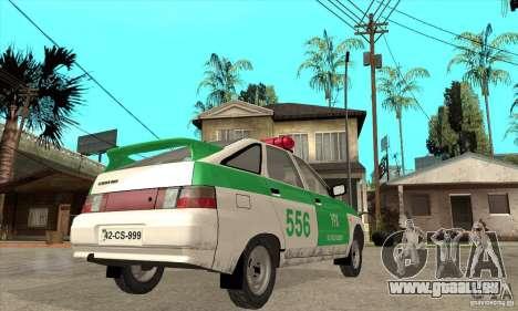 VAZ-2112 YPX Polizei für GTA San Andreas rechten Ansicht