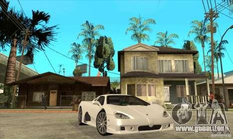 SSC Ultimate Aero Stock version für GTA San Andreas Rückansicht