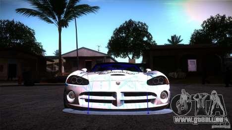 Dodge Viper Mopar Drift pour GTA San Andreas vue arrière