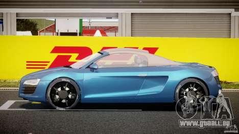 Audi R8 Spyder v2 2010 pour GTA 4 est une vue de l'intérieur