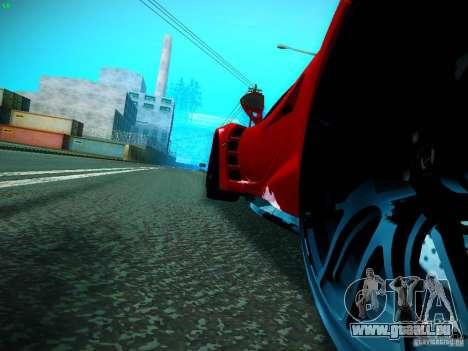 Hennessey Venom GT Spyder für GTA San Andreas zurück linke Ansicht