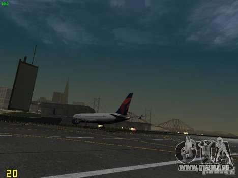Boeing 767-400ER Delta Airlines für GTA San Andreas Rückansicht