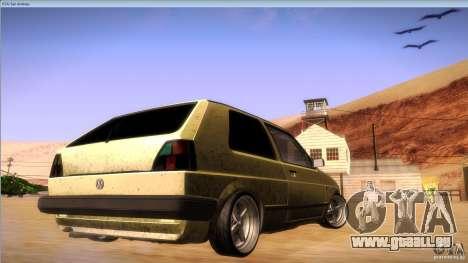 Volkswagen Golf MK II pour GTA San Andreas vue arrière
