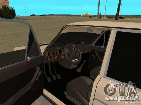 VAZ 2106 West Style pour GTA San Andreas vue arrière
