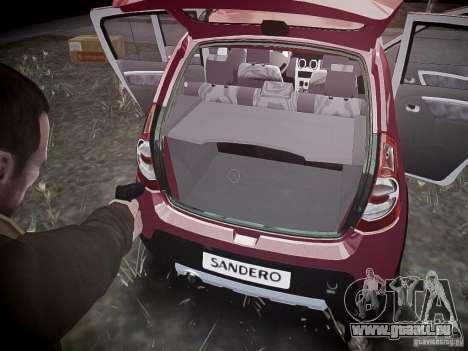 Dacia Sandero Stepway pour GTA 4 roues
