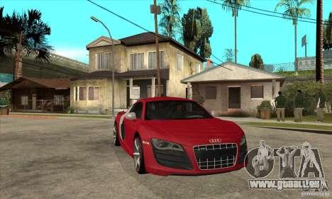 Audi R8 V10 pour GTA San Andreas vue arrière