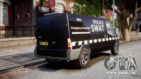 Ford Transit SWAT [ELS] pour GTA 4 est une vue de l'intérieur