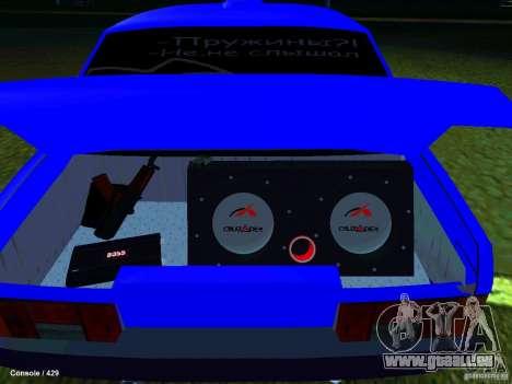 VAZ 21099 Turbo pour GTA San Andreas vue arrière