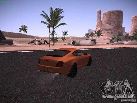 Bentley Continetal SS Dubai Gold Edition pour GTA San Andreas sur la vue arrière gauche