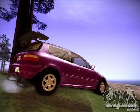 Honda Civic 1994 für GTA San Andreas zurück linke Ansicht