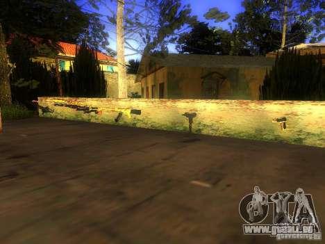 Waffen in der Grove Street für GTA San Andreas dritten Screenshot
