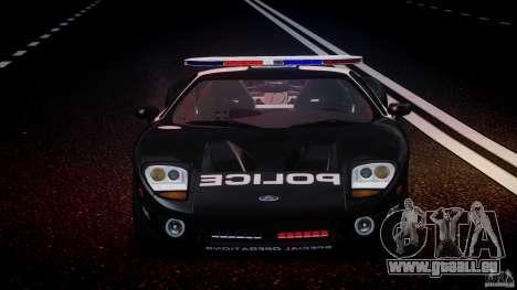 Ford GT1000 Hennessey Police 2006 [EPM][ELS] für GTA 4 Unteransicht